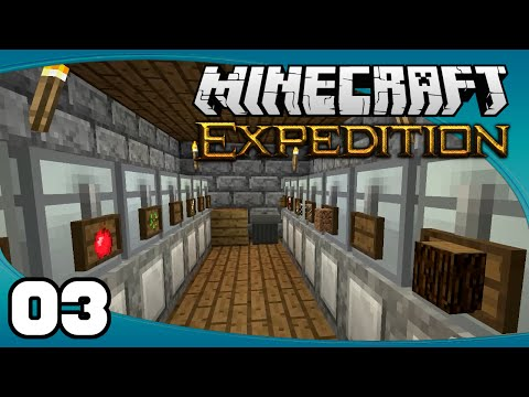 Minecraft Expedition - Ep. 3: Basement Storage | Minecraft Modded Survival Let's Play