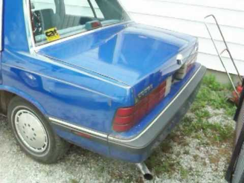 1986 Dodge Aries K Car First Video Youtube