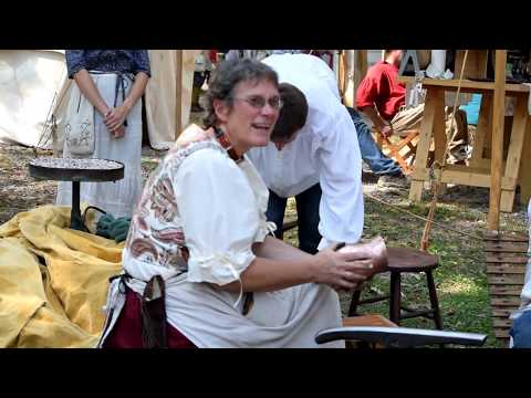 Demonstrations of historic crafting at Johnny Appleseed Festival