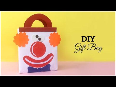 Cute Joker / Clown Gift Bag Tutorial | DIY Paper Gift Bag