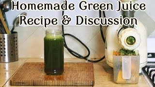 What A Vegan Eats: Homemade Green Juice! Thumbnail