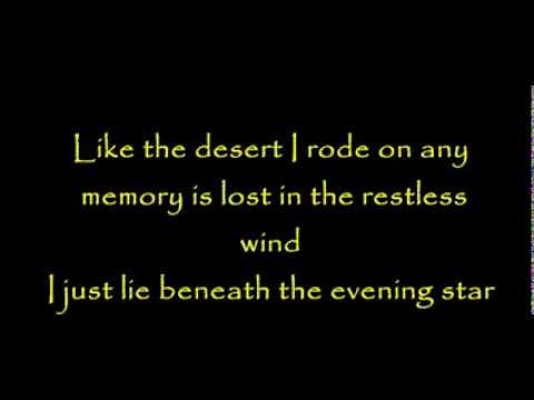 Lyrics - Kenny Rogers - Evening star