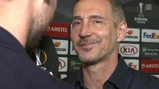 Adi Hütter im DAZN Interview vor Frankfurt vs Benfica Lissabon
