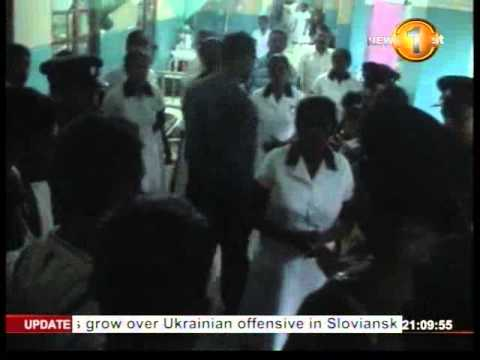 Newsfirst_Tensions flared at the Kuliyapitiya base hospital