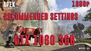 APEX LEGENDS | GTX 1060 3GB + I5-7400 + 8GB RAM | RECOMMENDED SETTINGS - 1080p | BENCHMARK