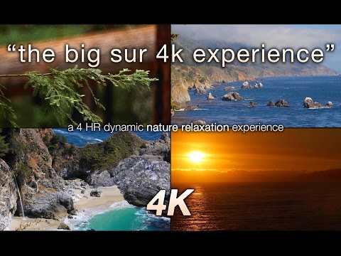 """4 HRS Pure 4k Nature: """"Big Sur Experience"""" Relaxation Video UHD"""