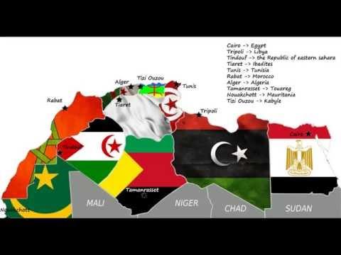 Carte du Nord d'afrique - خريطة شمال إفريقيا - map of north africa