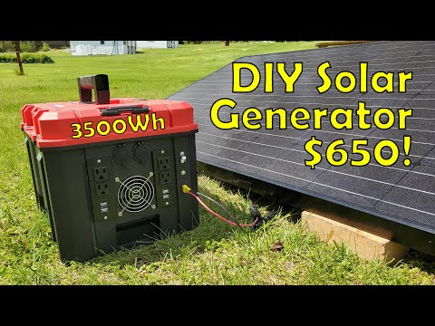 Building a 3.5kWh DIY Solar Generator for $650  Start to Finish