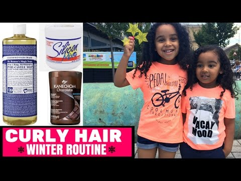 Curly Hair Wash Routine - Silicon Mix - Winter Hair Routine - Mixed Race Hair - CURLY HAIR -Kanechom