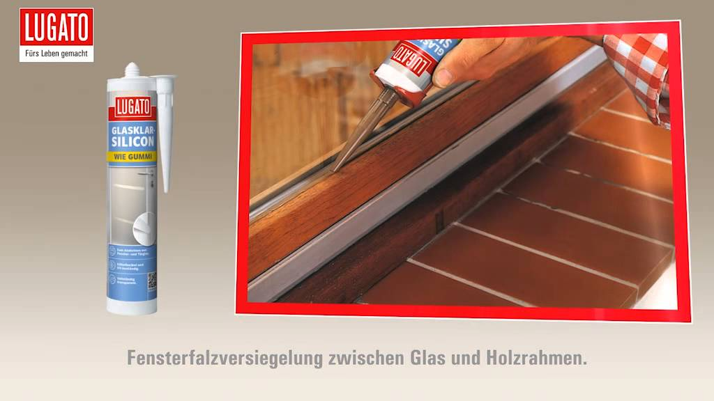 anleitung fenster verfugen und abdichten mit lugato glasklarsilikon youtube. Black Bedroom Furniture Sets. Home Design Ideas