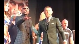 OH SH!T! FLOYD & CONOR ATTACK HECKLER AT FINAL PRESS CONFERENCE!