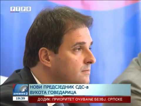 Vukota Govedarica - novi predsjednik SDS-a