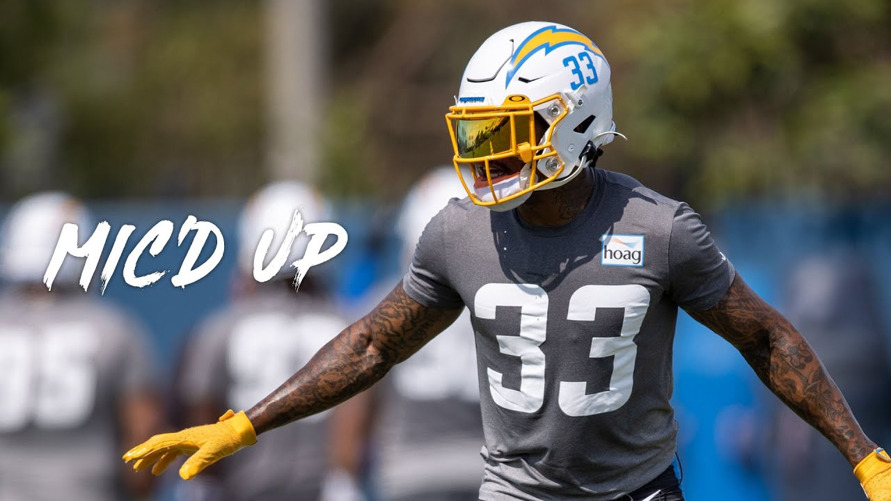 """Derwin James Mic'd Up at Chargers 2021 Minicamp, """"Bruh I'm double mic'd!"""""""