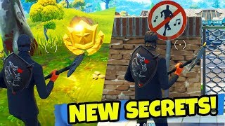 NEW EASTER EGGS & SECRETS FOUND in Fortnite: Battle Royale!