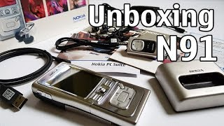 Nokia N91 Unboxing 4K with all original accessories Nseries RM-43 review