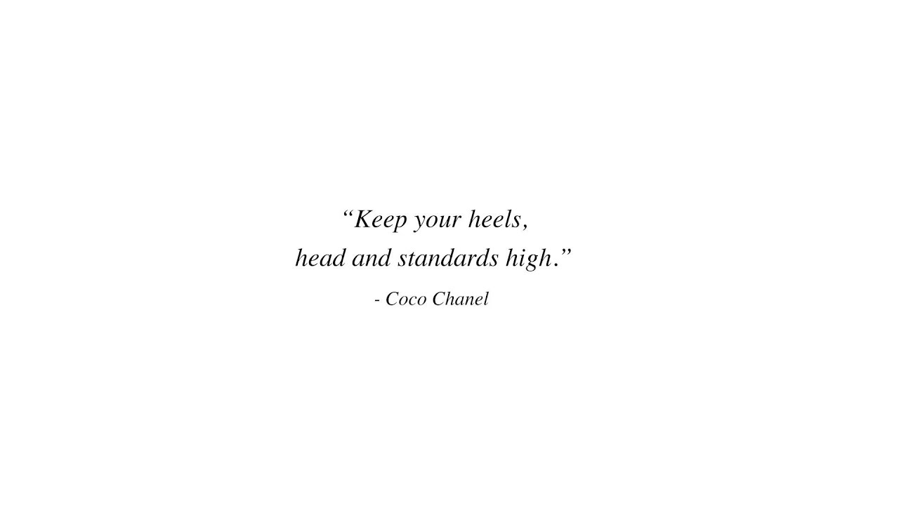 ALL IS VANITY LOVE COCO CHANEL