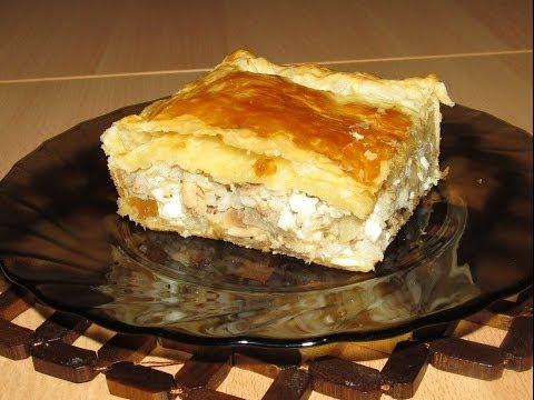 Рыбный пирог: из слоеного теста с консервой