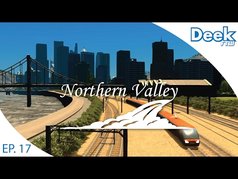 Let's Design Northern Valley Ep.17 - Detailing Downtown Public Transportation - Cities Skylines