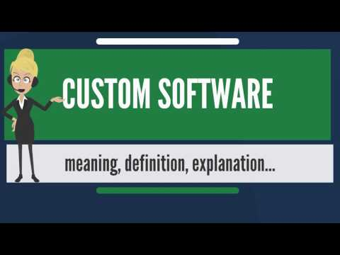 What is CUSTOM SOFTWARE? What does CUSTOM SOFTWARE mean? CUSTOM SOFTWARE meaning & explanation