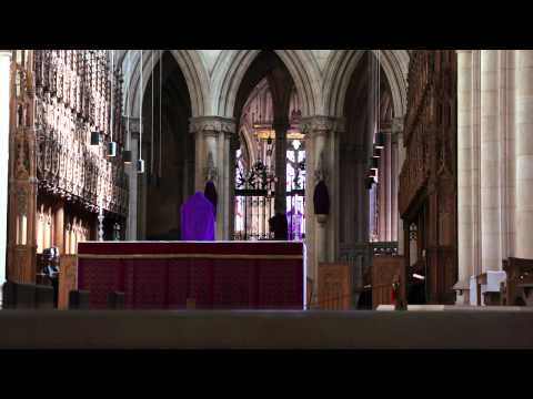 Benedictine monks chant midday prayers (Downside Abbey)