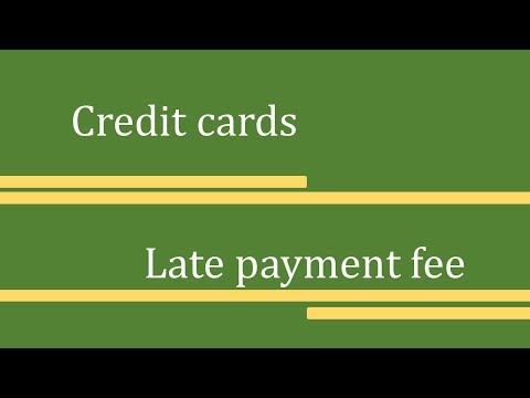 Credit Card Late Payment Charge In Tamil