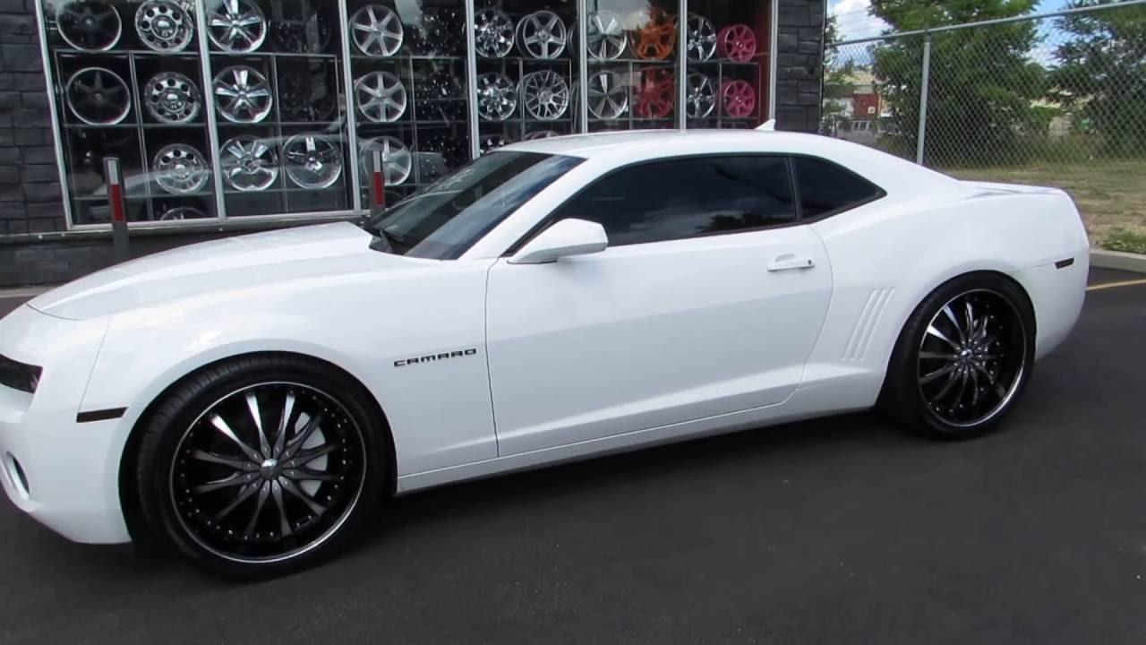 All Chevy chevy 22 rims : 2013 CHEVROLET CAMARO RIDING ON CUSTOM 22 INCH BLACK & MACHINED ...