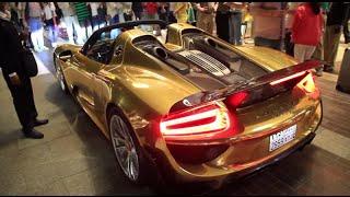 Gold Exotic Super Cars Only In Dubai سيارات فارهة و خارقة بطلاء من الذهب