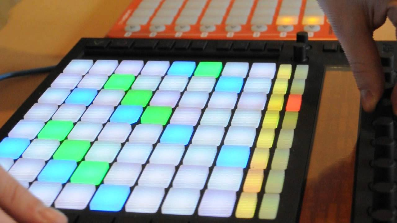 Live Chillstep Controllerism (Ableton Push + Novation Launchpad)