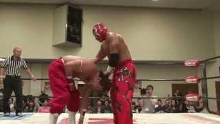 5月11日大阪市立西区民センターで行われたBJW認定タッグ選手権試合。6度...