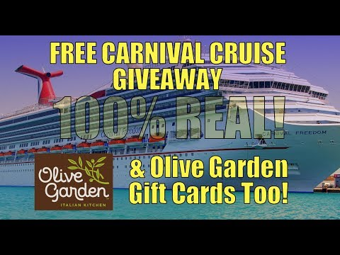 FREE CARNIVAL CRUISE  ~ Carnival Cruise Giveaway