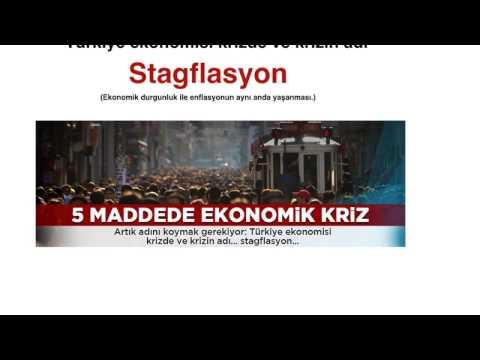 Türkiye ekonomisi krizde ve krizin adı, stagflasyon.