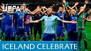 Iceland celebrations vs England in full: Slow hand clap(See how Iceland celebrated knocking out England at UEFA EURO 2016 with their famous slow hand clap in Nice., 2016-06-27T22:00:09.000Z)