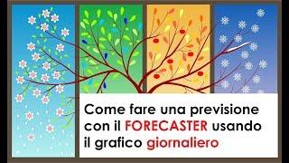 Come fare una previsione con il Forecaster - Grafico Giornaliero