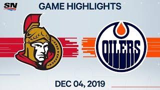 NHL Highlights   Senators vs Oilers - Dec. 4, 2019