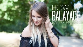 HOW TO BALAYAGE EXTENSIONS     A.Co est. 1984