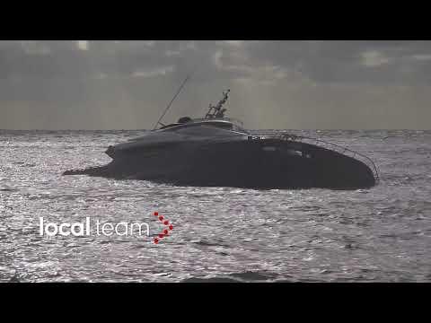 Rapallo, a fondo lo yacht di Pier Silvio Berlusconi