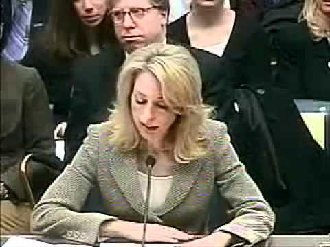 Valerie Plame testifies in CIA leak hearings part 1 www Keep Tube com