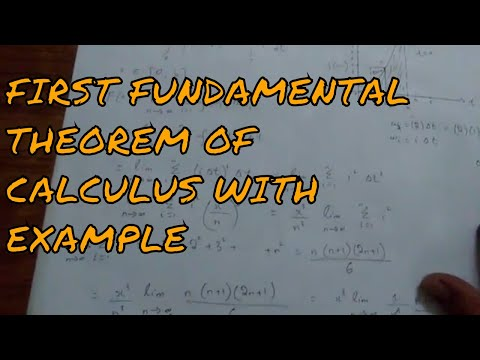 The First Fundamental Theorem Of Calculus with example throu
