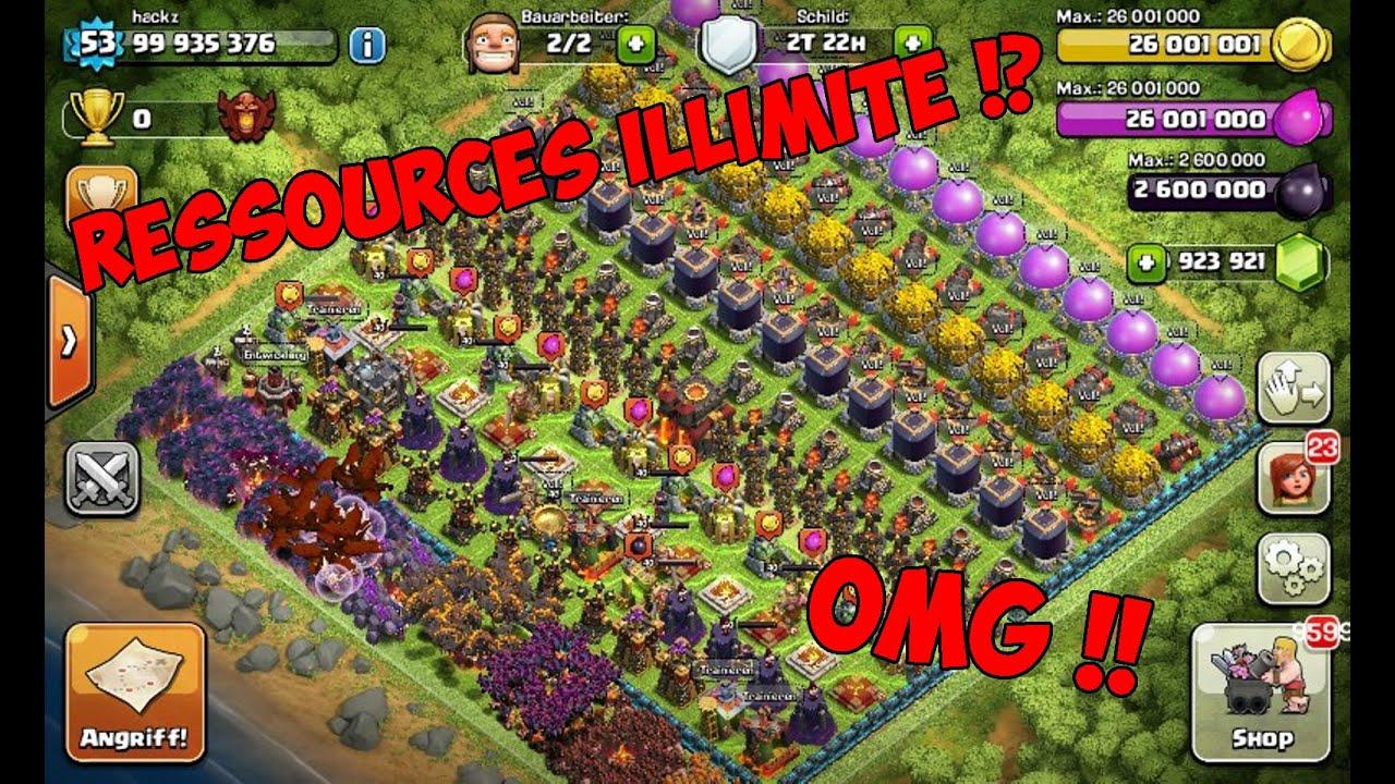 clash of clans tout illimité
