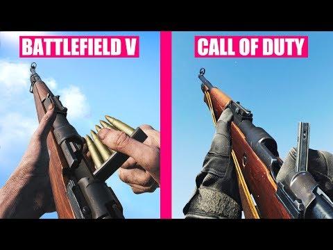 Battlefield 5 Vs Modern Warfare 2019 Weapons Comparison
