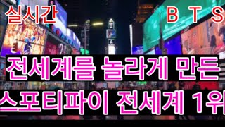 "[BTS 방탄소년단] 실시간속보  전세계를 놀라게 만든  ""스트리밍 전세계 1위""  (BTS rank No.1 on most streamed group)"