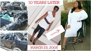 SPINAL CORD INJURY (My Story): 10 Years Post Car Accident | TheDIYLady