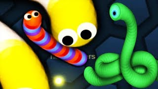 Slither.io - LUCKY SNAKE Vs Biggest Monster Snake Slitherio Gameplay