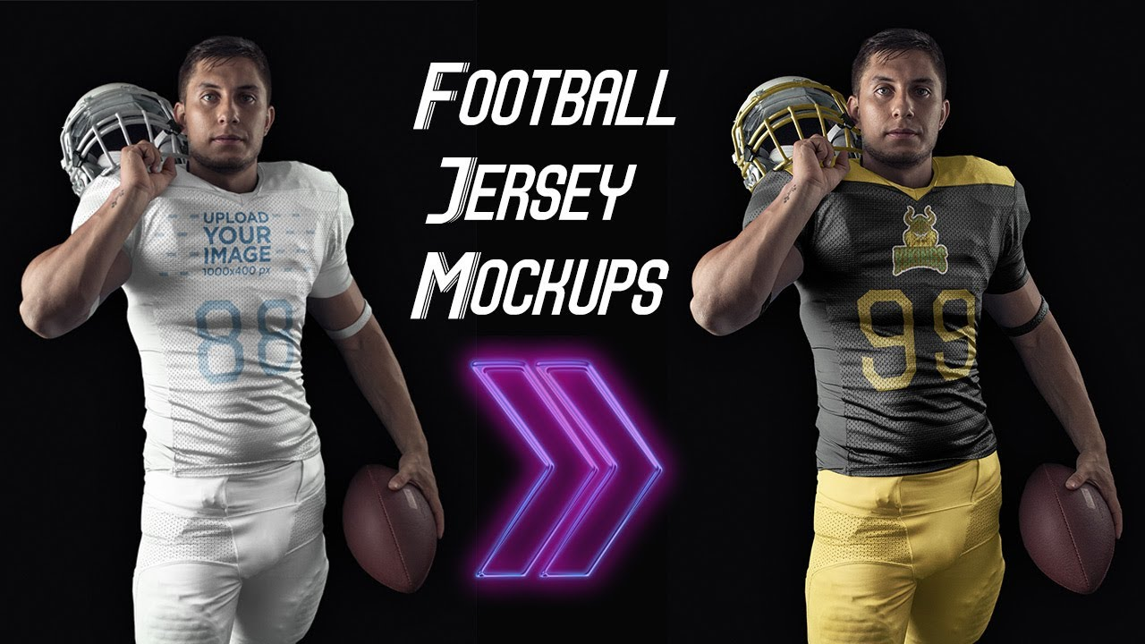e956824ff How to Create Football Jersey Mockups Without Photoshop - YouTube