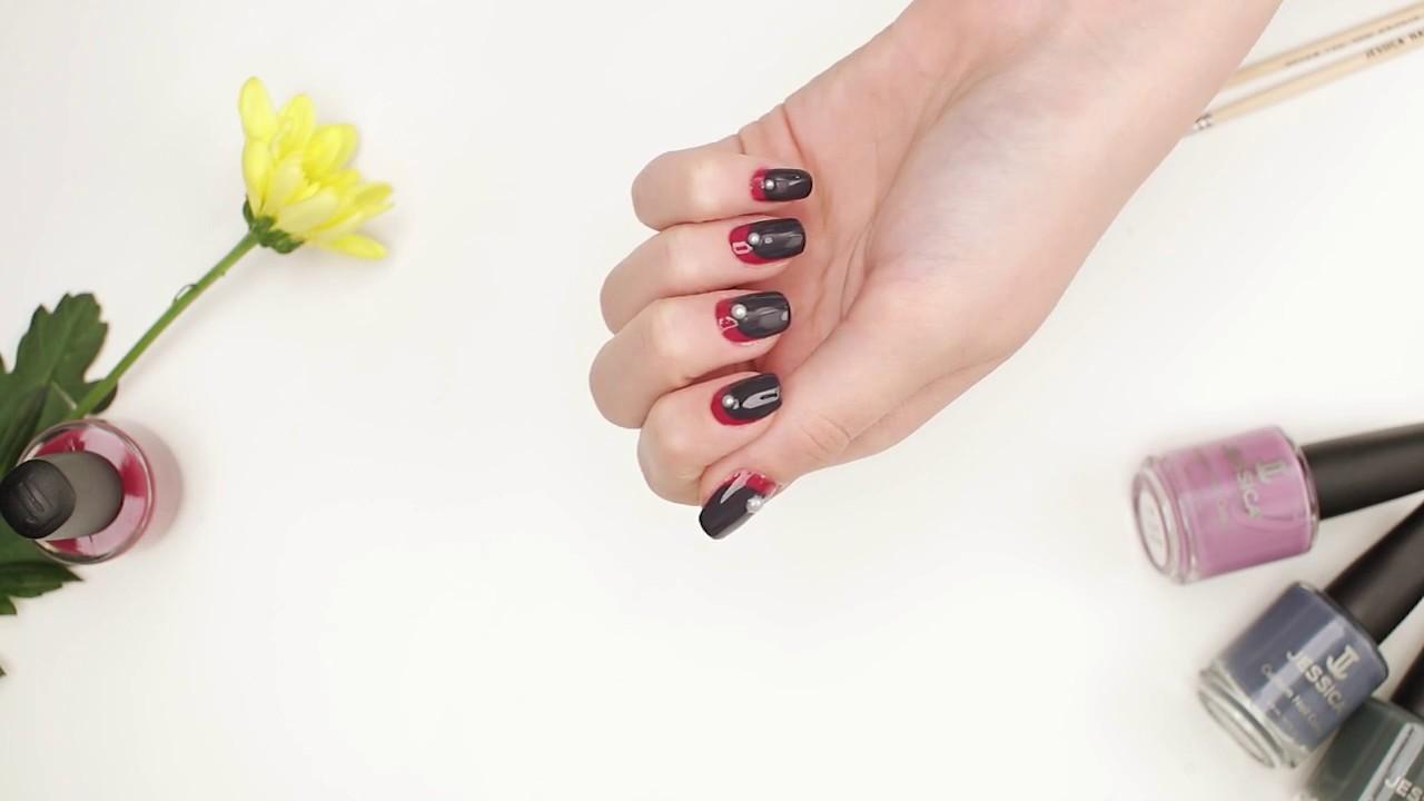 Pearl Nail Art Testing Phenom Thick Topcoat Youtube