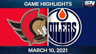 NHL Game Highlights   Senators vs. Oilers – Mar. 10, 2021