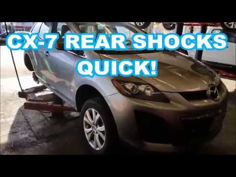 MAZDA CX-7 REAR SHOCKS How To REPLACE 2007-2012 replacement change