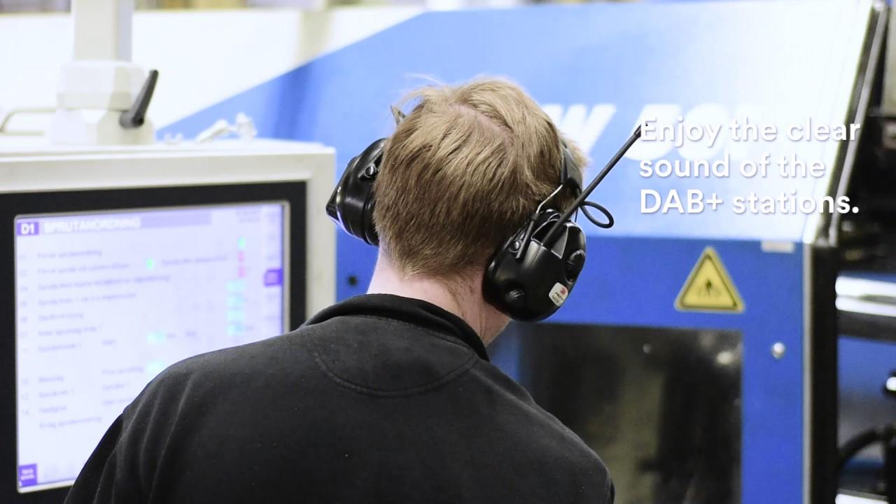Super 3M PELTOR Radio DAB+ FM Application video Industry - YouTube PR-46