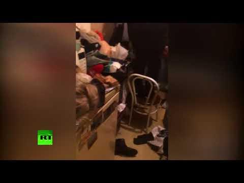 Эксклюзивные кадры из комнаты семьи каннибалов в общежитии в Краснодаре