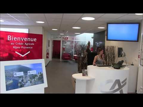 Nouvelle agence Crédit Agricole Alpes Provence à  Marseille St-Barnabé